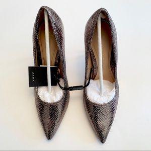 NWT Zara Metallic Heels